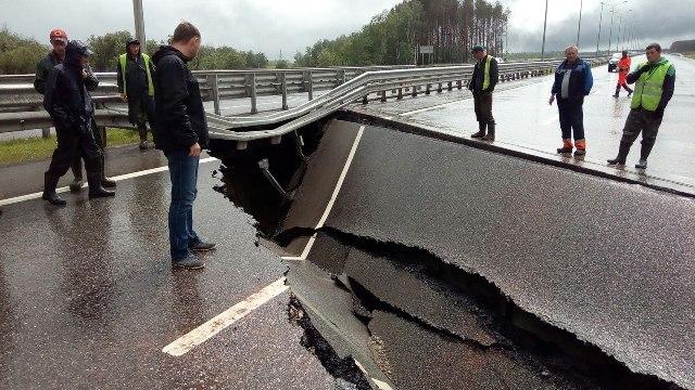 Дожди размыли «новую» трассу Пермь - Екатеринбург
