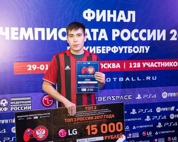 Игрок «Амкара» стал бронзовым призером Чемпионата РФ покиберфутболу