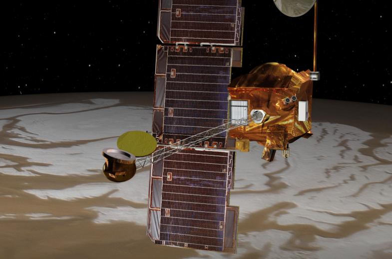 На Марсе обнаружены следы водного льда
